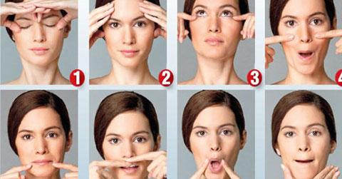 4 bài tập yoga face giúp da căng mịn
