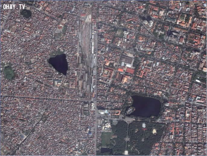 Đường Khâm Thiên và Lê Duẩn nhìn từ vệ tinh