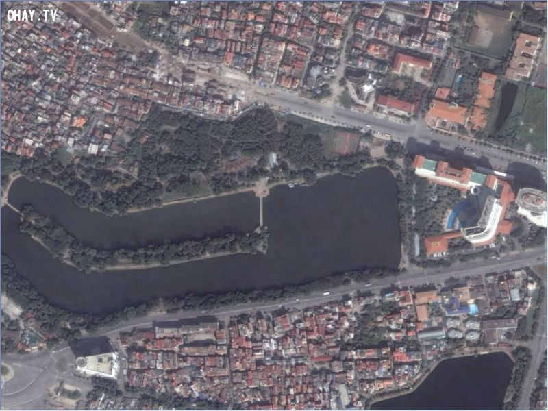 Vườn bách thảo nhìn từ vệ tinh