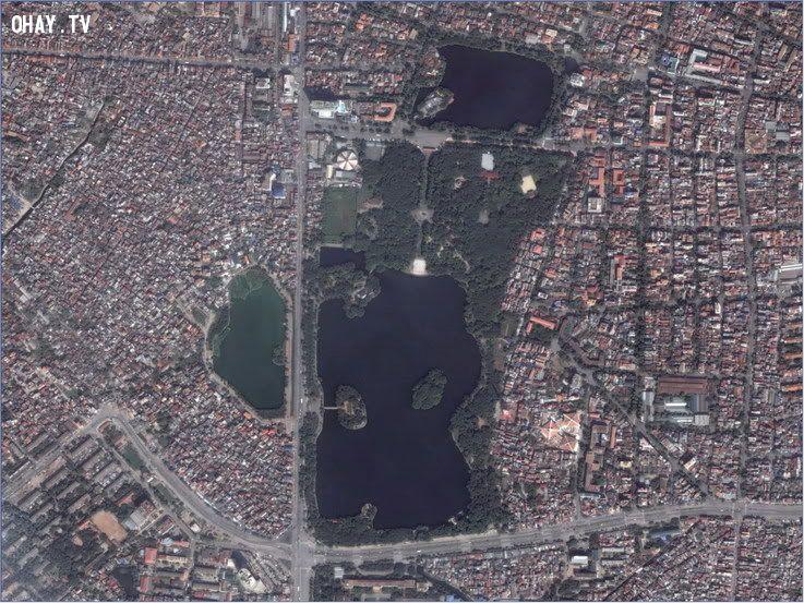 Công viên Thống Nhất nhìn từ vệ tinh