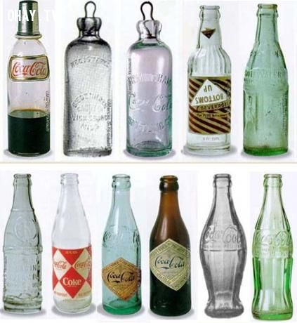 Chai Coca-Cola phong cách vintage