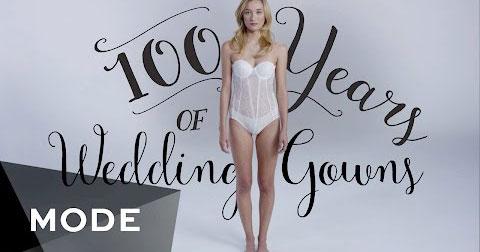 100 năm biến hóa của váy cưới trong vòng 3 phút
