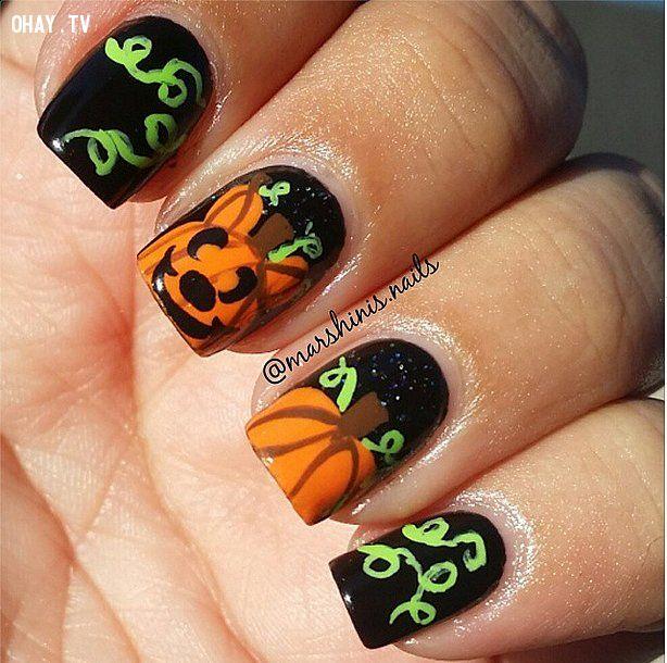 ảnh mẫu móng tay đẹp,mẫu móng tay cá tính,mẫu nail,mẫu móng tay,làm nail,làm móng,halloween
