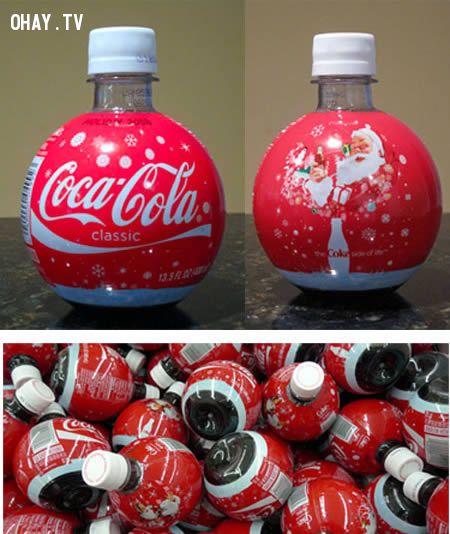 Chai Coca-Cola tròn phiên bản Noel 2008