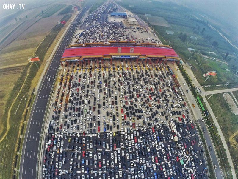 ảnh tắc đường,tắc đường bắc kinh,tắc đường trung quốc,quốc khánh trung quốc
