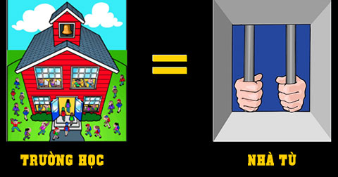 9 điểm giống nhau giữa trường học và nhà tù