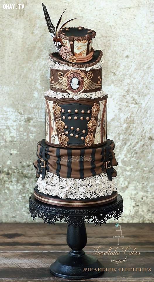 ảnh Steampunk,bánh cưới
