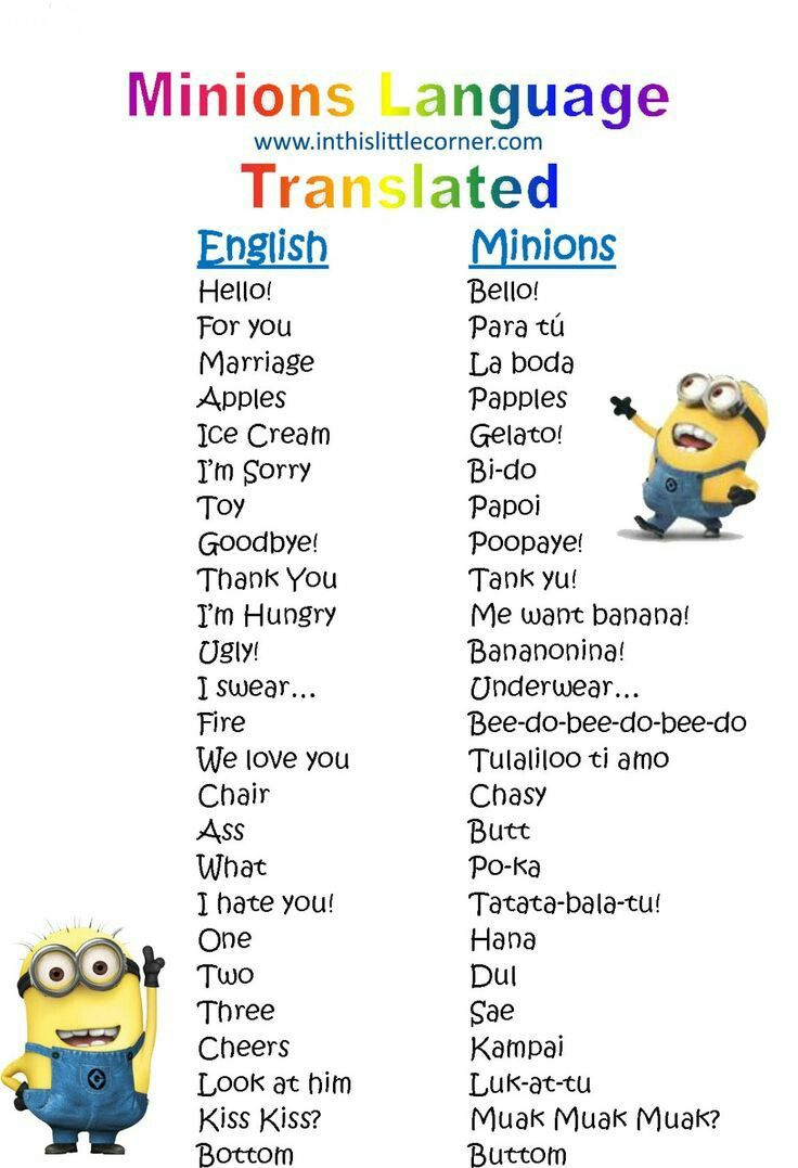 ảnh ngôn ngữ minions,minions