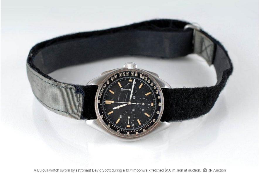 ảnh đồng hồ,đấu giá,Apollo 15,David Scott