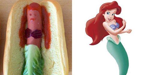 Khi các nàng công chúa disney hóa thành...hot dog