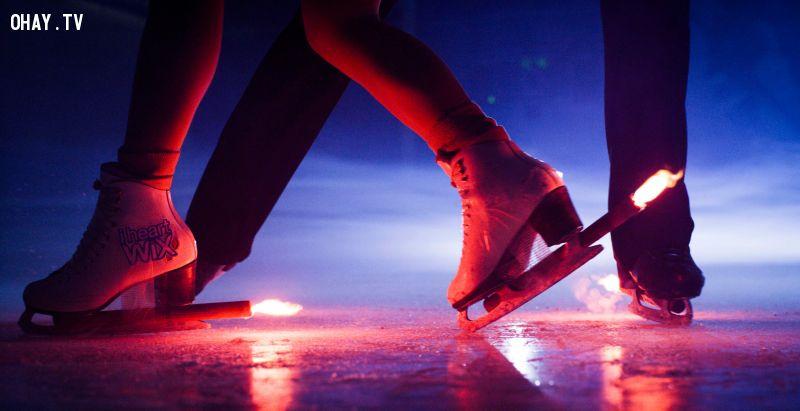 ảnh trượt băng với lửa,trượt băng nghệ thuật,trượt băng
