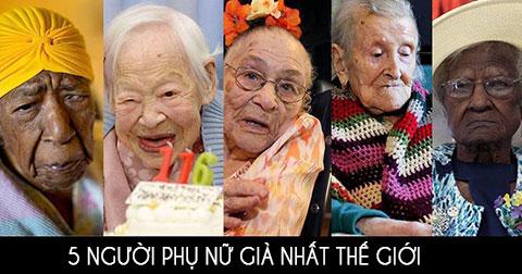 5 người phụ nữ già nhất thế giới