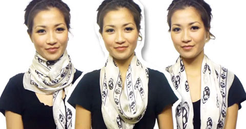 25 cách quàng khăn siêu đơn giản trong vòng 4 phút rưỡi!!!!