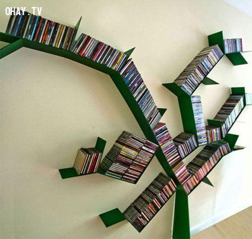 Giá sách hình cây