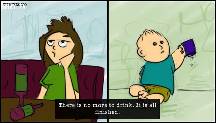 12 điểm tương đồng giữa người say rượu và em bé