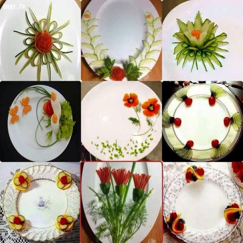 ảnh trang trí hoa quả,trang trí đĩa,học nấu ăn,trầm trồ,khéo tay,các nàng nên biết