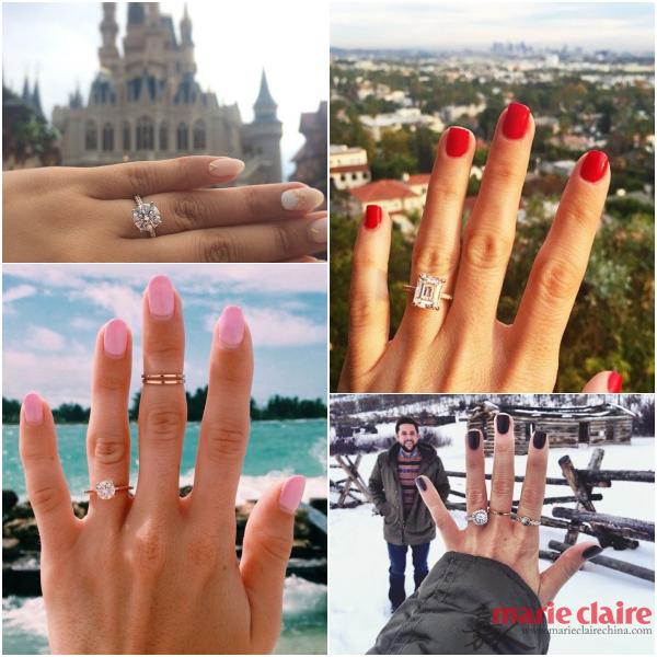 Những chiếc nhẫn kim cương sáng lấp lánh dưới ánh mặt trời