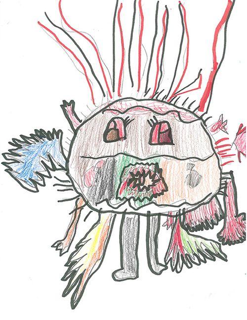 bức vẽ của trẻ em được vẽ lại bởi họa sĩ chuyên nghiệp