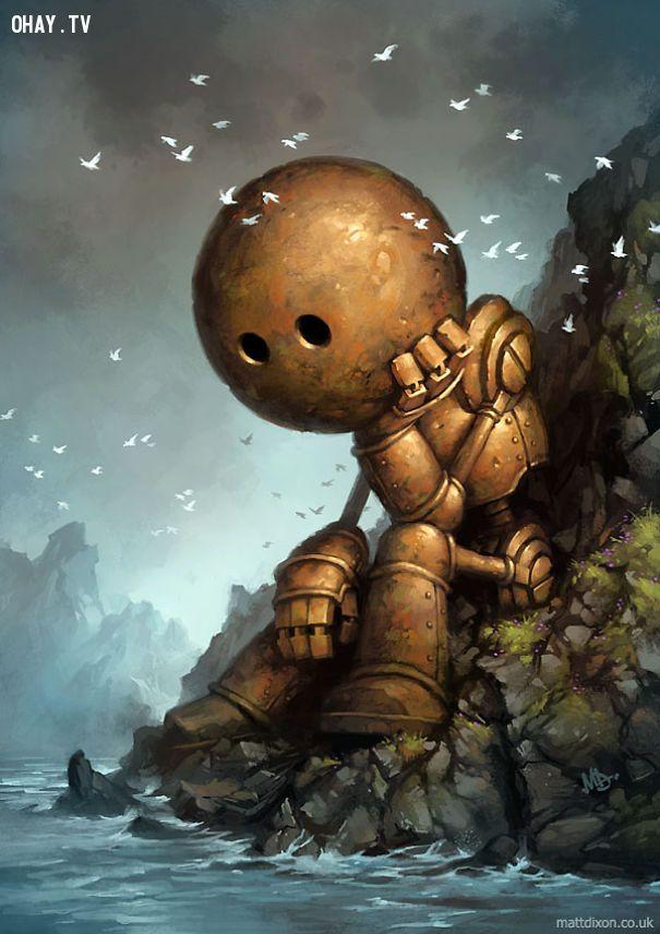 ảnh robot,Matt Dixon,tranh minh họa