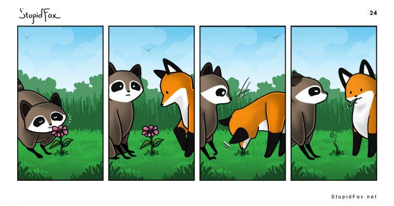 ảnh cáo ngu,truyện tranh,dễ thương,stupid fox