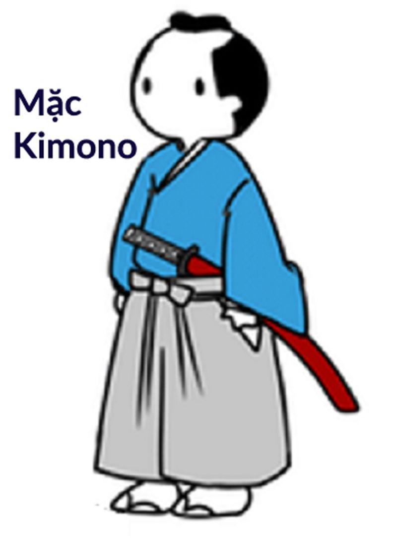 Samurai mặc kimono