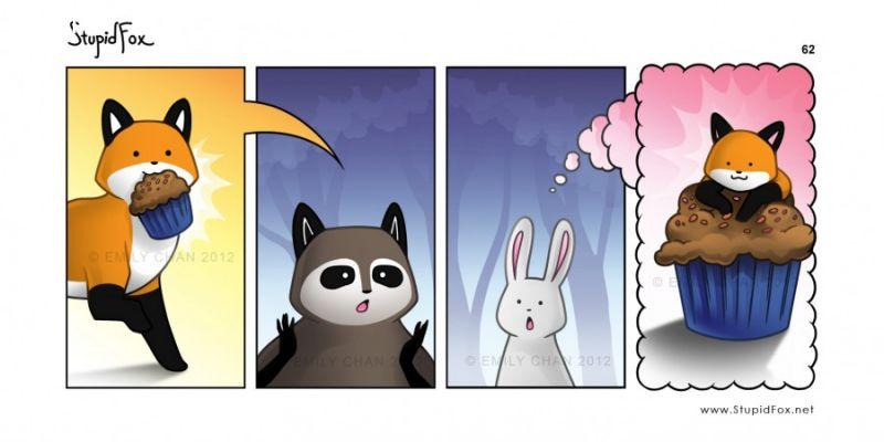 ảnh truyện tranh,vui nhộn,cáo ngu,động vật,dễ thương