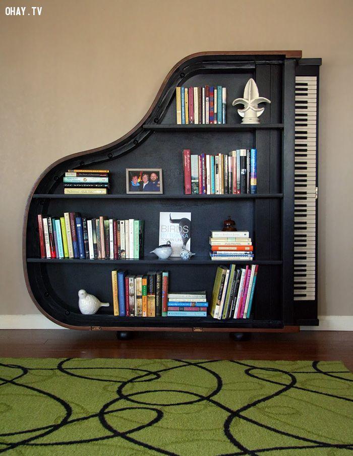 Giá sách Piano
