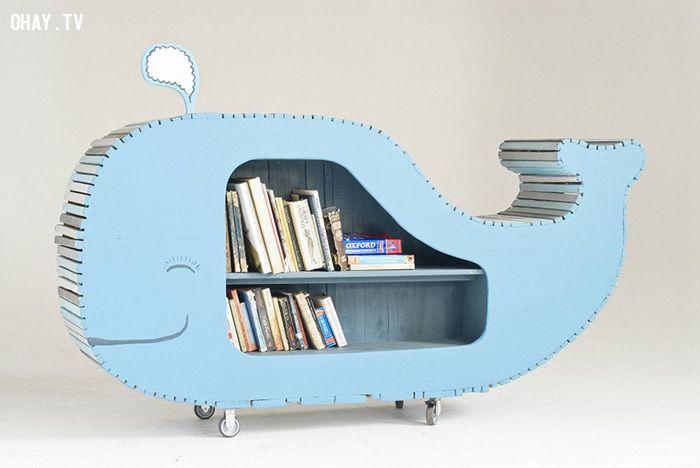 Giá sách cá voi