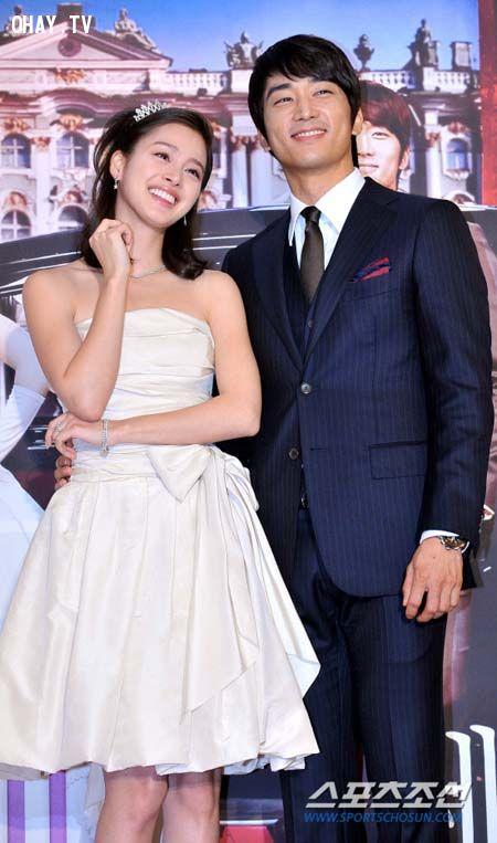 kiKim Tae Hee và Song Seung Hun- họp báo tuyên truyền phim Công chúa của tôi