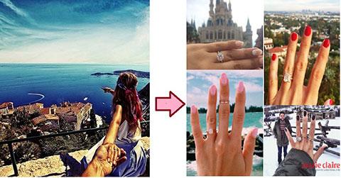 """Giới trẻ rộ trào lưu chụp ảnh \""""Cùng nhẫn kim cương đi khắp thế gian\"""""""