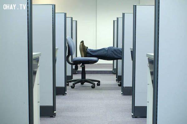 Sống ở phòng làm việc vì không đủ tiền
