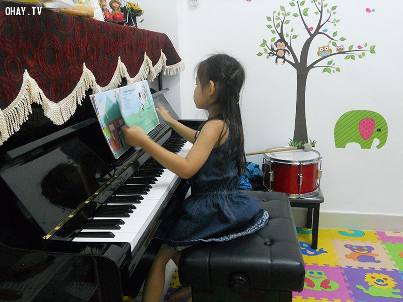 Mình sẽ cho con học ít nhất một thứ nhạc cụ