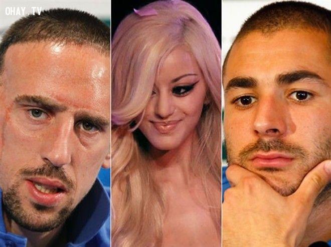 Franck Ribery và Kazim Benzema mua dâm cô gái đang ở tuổi vị thành niên tên là Zahia Dehar