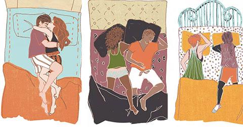 Tư thế ngủ nói lên điều gì về mối quan hệ hiện tại?