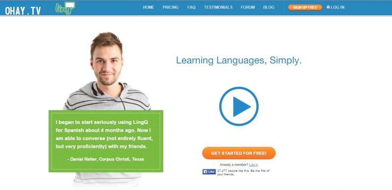 Học ngoại ngữ hoàn toàn Miễn Phí
