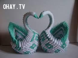 Đôi thiên nga Origami