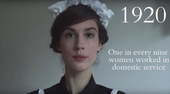 Năm 1920, cứ 9 người phụ nữ thì có 1 người là giúp việc