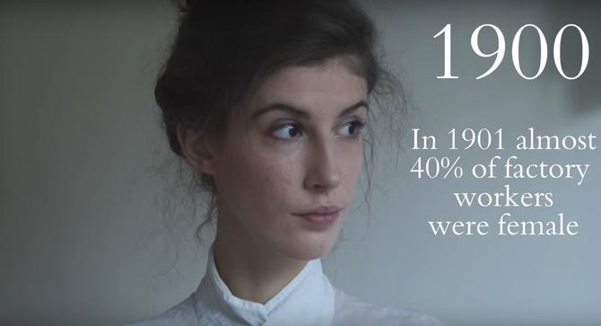 Trong năm 1901 gần 40% công nhân trong nhà máy là phụ nữ