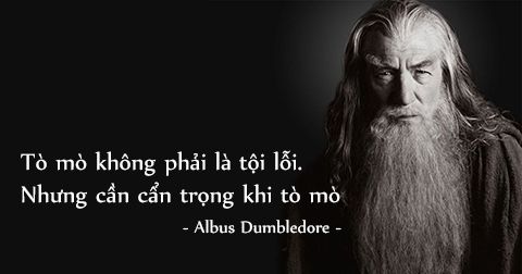 Mạnh mẽ hơn với 9 câu nói của Giáo sư Albus Dumbledore