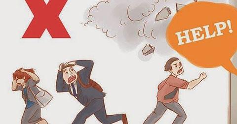 Kỹ năng thoát hiểm khi có động đất xảy ra .