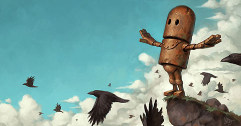 Bộ tranh thế giới Robot của Matt Dixon