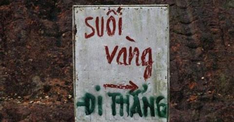 Những bảng báo hài hước chỉ có ở Việt Nam