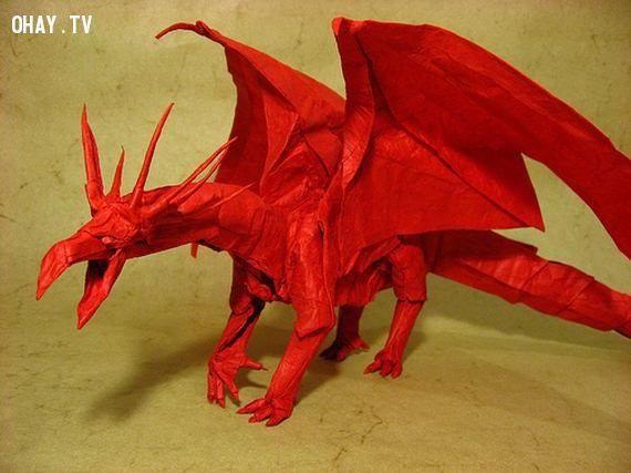 Rồng châu Âu Origami