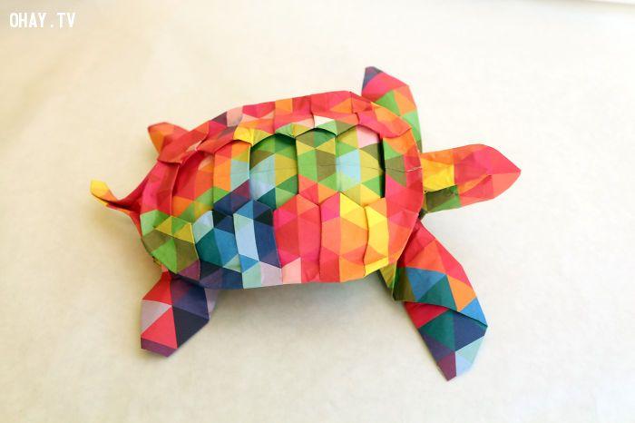 Con rùa sặc sỡ Origami