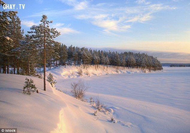 Mùa đông dài đặc trưng của Phần Lan