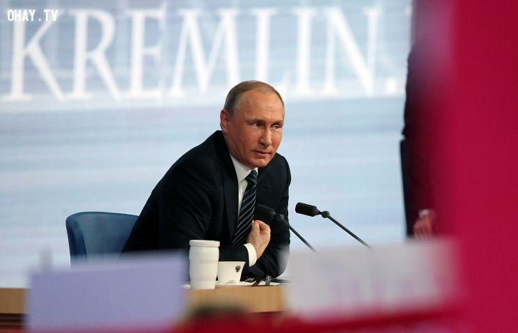 Tổng thống Putin tại buổi họ báo năm 2015