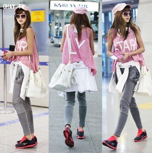 ảnh sao Hàn,kpop,thời trang sân bay