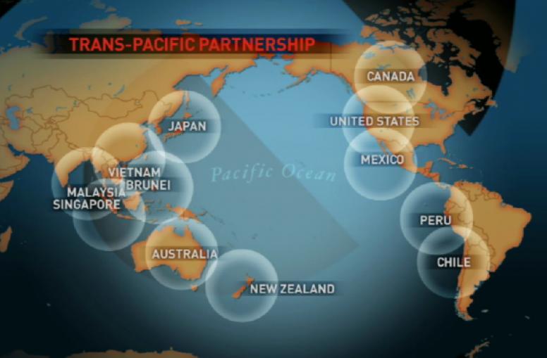 Biểu đồ các nước tham gia TPP (Theo CCTV)