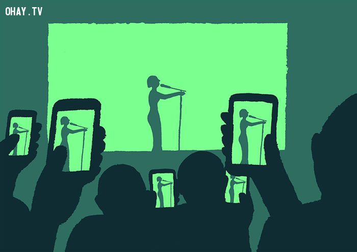 ảnh nghiện công nghệ,thời đại smartphone,cuộc sống hiện đại,thực tại cuộc sống,suy ngẫm,Jean Jullien