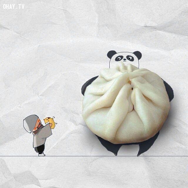 Bánh bao gấu trúc